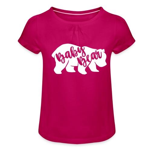 Baby Bear - für Eltern-Baby-Partnerlook - Mädchen-T-Shirt mit Raffungen