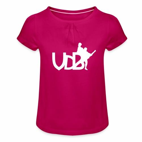 Linea VdB Bianco - Maglietta da ragazza con arricciatura