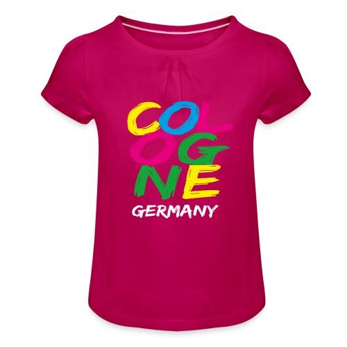 Colorful Cologne - Mädchen-T-Shirt mit Raffungen