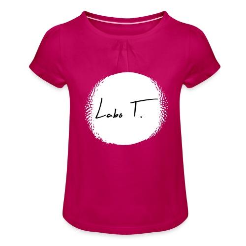 Labo T. - white - T-shirt à fronces au col Fille