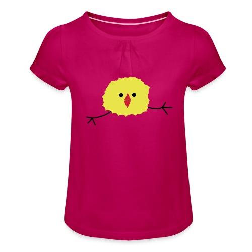 Silly Running Chic - Meisjes-T-shirt met plooien