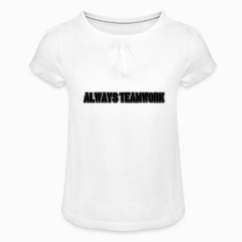 at team - Meisjes-T-shirt met plooien