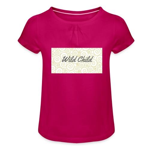 Wild Child 1 - Girl's T-Shirt with Ruffles