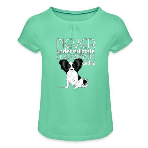 papiunderestimate3 - Tyttöjen t-paita, jossa rypytyksiä