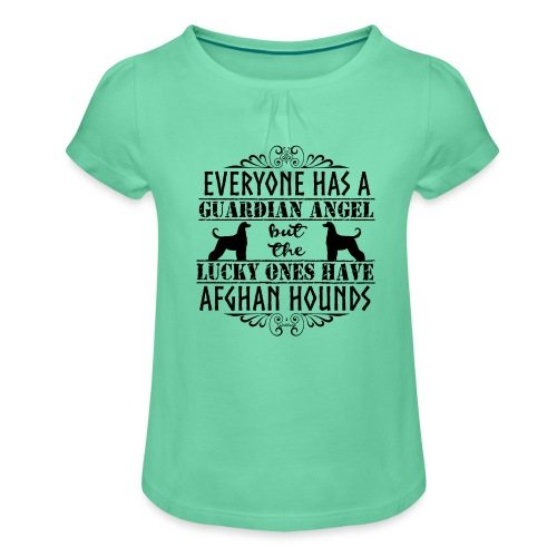 Afghan Hound Angels - Girl's T-Shirt with Ruffles