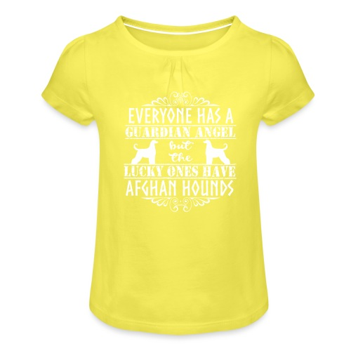 Afghan Hound Angels 2 - Girl's T-Shirt with Ruffles