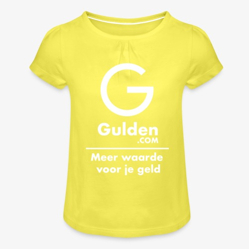 NLG - Gold Cryptocurrency - Early Adopter - Girl's T-Shirt with Ruffles