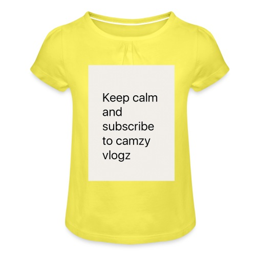 Keep calm - Girl's T-Shirt with Ruffles