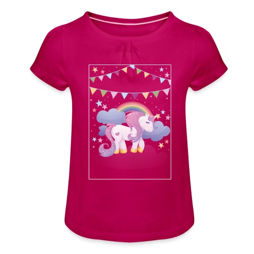 Dream horse - Girl's T-Shirt with Ruffles