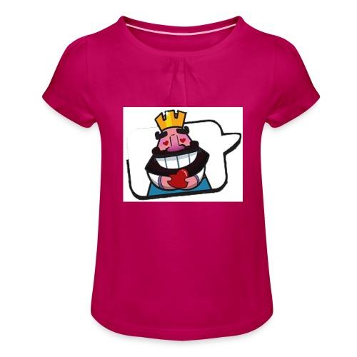 Cartoon - Maglietta da ragazza con arricciatura