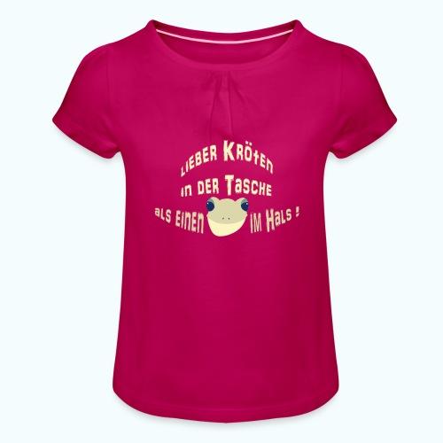 Lieber Kröten in der Tasche - Girl's T-Shirt with Ruffles
