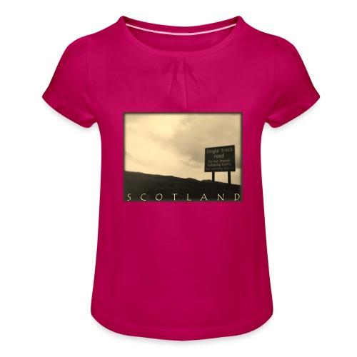 Scotland #1 (Vintage) - Mädchen-T-Shirt mit Raffungen