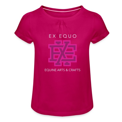 EX EQUO Arts and Crafts - Meisjes-T-shirt met plooien