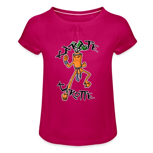 KarateKarotteTexte - T-shirt à fronces au col Fille