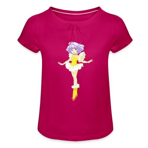creamy - Maglietta da ragazza con arricciatura
