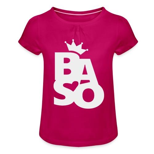 invert - T-shirt med rynkning flicka