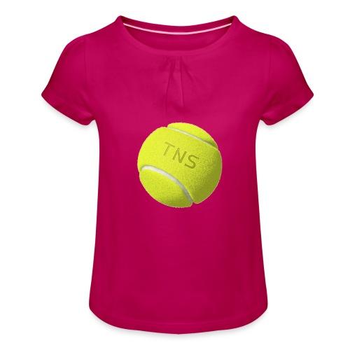 Tenis - Camiseta para niña con drapeado