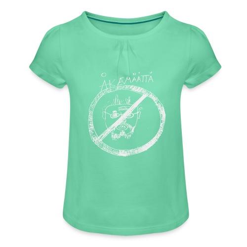 Mättää black - T-shirt med rynkning flicka