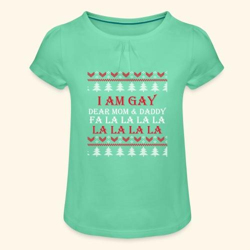 Gay Christmas sweater - Koszulka dziewczęca z marszczeniami