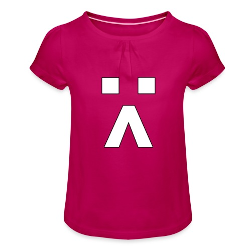 :< Smiley - Mädchen-T-Shirt mit Raffungen