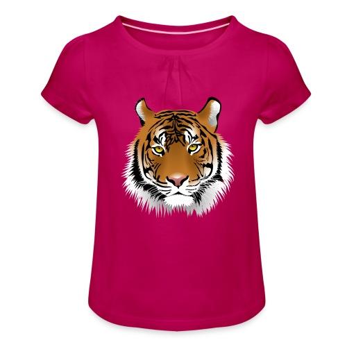tiger numero 1 - Camiseta para niña con drapeado