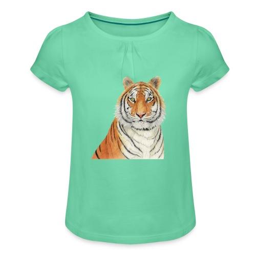 Tigre,Tiger,Wildlife,Natura,Felino - Maglietta da ragazza con arricciatura