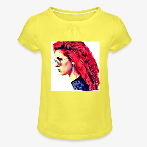 MINERVA - Camiseta para niña con drapeado