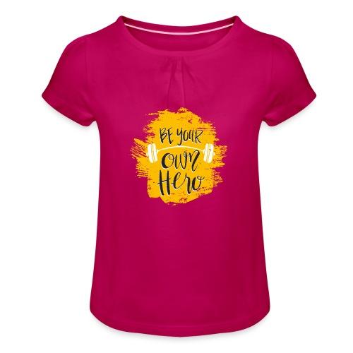 GYM Hero - Tyttöjen t-paita, jossa rypytyksiä