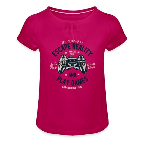 Escape Reality - Mädchen-T-Shirt mit Raffungen