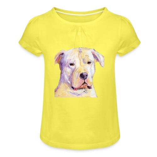 dogo argentino - Pige T-shirt med flæser