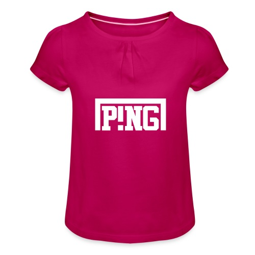 ping2 - Meisjes-T-shirt met plooien