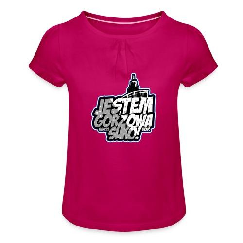 Jestem-Z-Gorzowa-Suko! - Koszulka dziewczęca z marszczeniami