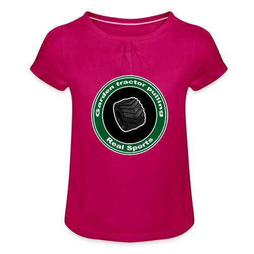 børne Real Tractor Pulling - Pige T-shirt med flæser