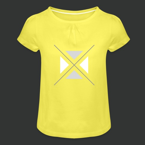 hipster triangles - Girl's T-Shirt with Ruffles
