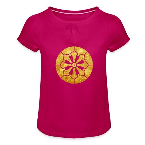 Sanja Matsuri Komagata mon gold - Girl's T-Shirt with Ruffles
