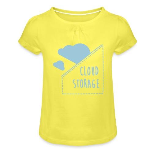 Cloud Storage - Mädchen-T-Shirt mit Raffungen