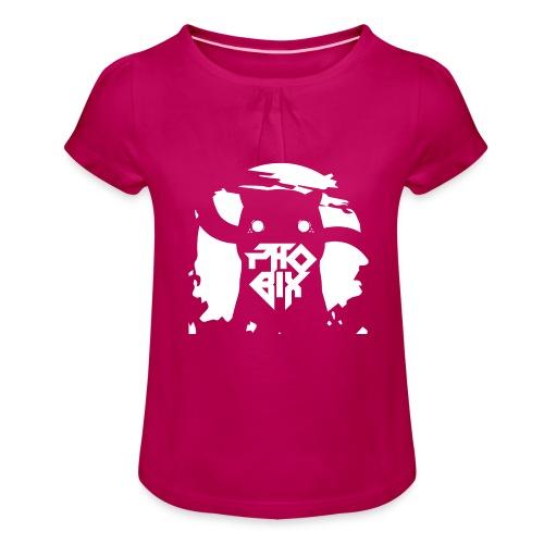 white 01big png - Mädchen-T-Shirt mit Raffungen