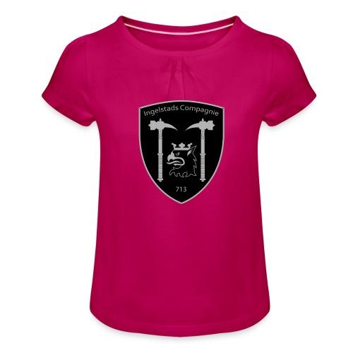 Kompanim rke 713 m nummer gray ai - T-shirt med rynkning flicka