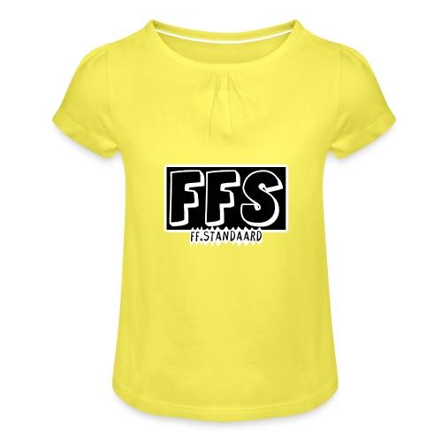 ff Standaard Shirt, Met FFS logo! - Girl's T-Shirt with Ruffles