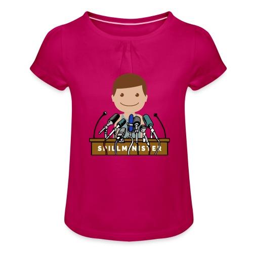Spillminister logoen - Jente-T-skjorte med frynser