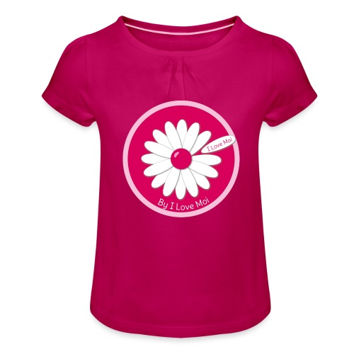 Call me Mademoiselle ! Le TeeShirt by I Love Moi - T-shirt à fronces au col Fille