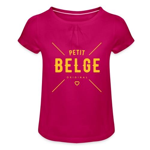 petit belge original - T-shirt à fronces au col Fille