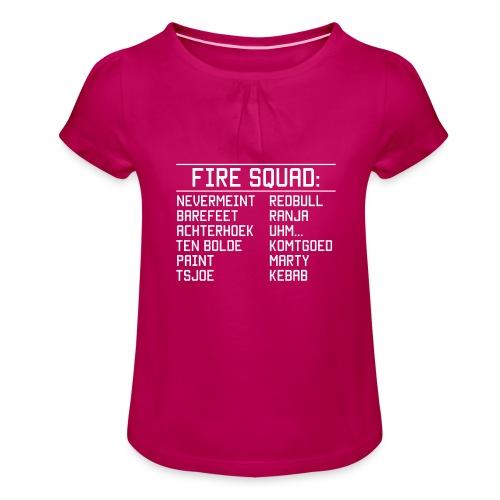8DArmyTekst v001 - Meisjes-T-shirt met plooien