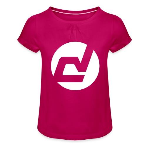 logo blanc - T-shirt à fronces au col Fille
