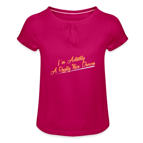 nice-person - Girl's T-Shirt with Ruffles