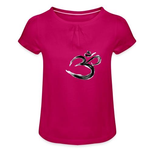 Black OM - T-shirt med rynkning flicka