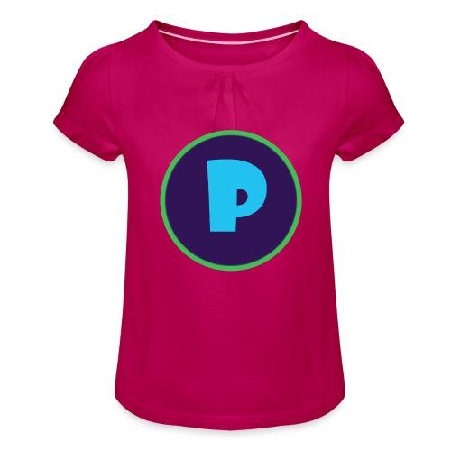 Loga - T-shirt med rynkning flicka