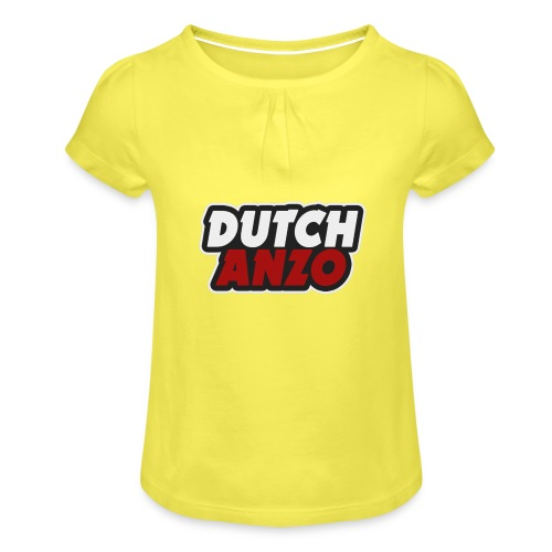 dutchanzo - Meisjes-T-shirt met plooien