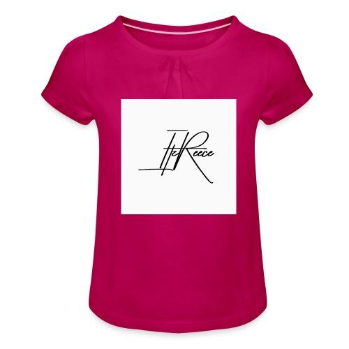 Small logo white bg - Girl's T-Shirt with Ruffles