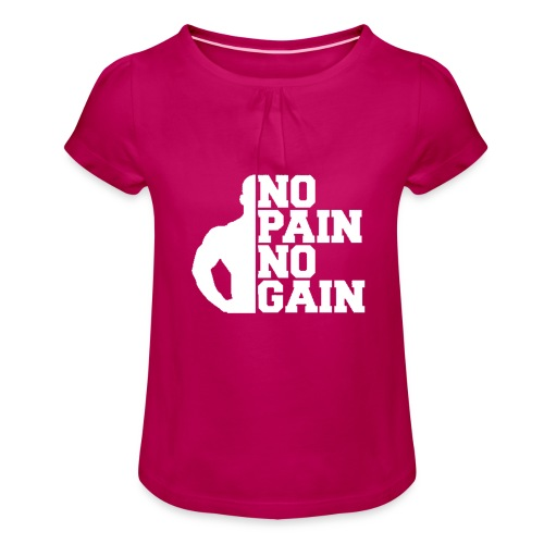 no pain no gain - T-shirt à fronces au col Fille